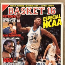 Coleccionismo deportivo: BASKET 16 N° 61 (1988). ESPECIAL NCAA, PETROVIC, MAGIC JOHNSON LARRY BIRD, KIL HAMPTON,.... Lote 254979980