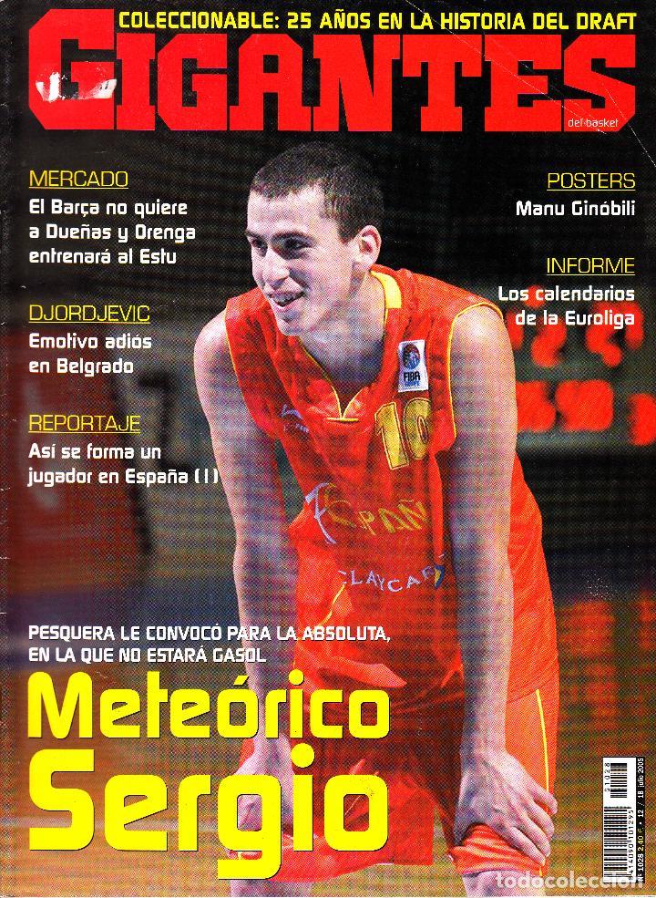 REVISTA GIGANTES DEL BASKET NUMERO 1028 METEÓRICO SERGIO RODRÍGUEZ (Coleccionismo Deportivo - Revistas y Periódicos - otros Deportes)