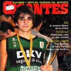 Coleccionismo deportivo: REVISTA GIGANTES DEL BASKET NUMERO 1042 RICKY RUBIO. Lote 255463550