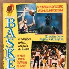 Collezionismo sportivo: NUEVO BASKET N° 134/135 (1985). FINAL NBA LAKERS VS CELTICS, BARÇA CAMPEÓN MUNDIAL, NATE DAVIS, PETR. Lote 258151170