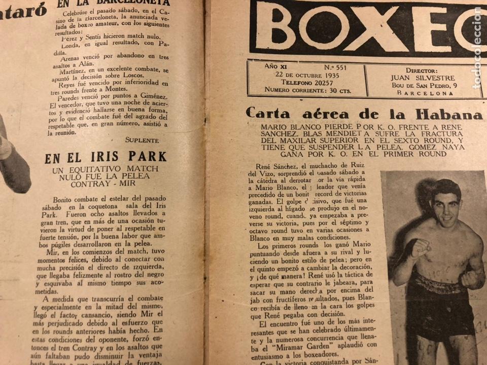Coleccionismo deportivo: REVISTA BOXEO N° 551 (1935). PAULINO UZCUDUN Vs JOE LOUIS, JULIÁN ECHEVERRIA, SANGCHILI, SAGARRA SAR - Foto 2 - 260077495