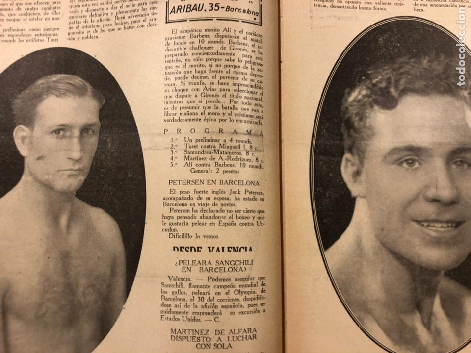 Coleccionismo deportivo: REVISTA BOXEO N° 551 (1935). PAULINO UZCUDUN Vs JOE LOUIS, JULIÁN ECHEVERRIA, SANGCHILI, SAGARRA SAR - Foto 3 - 260077495