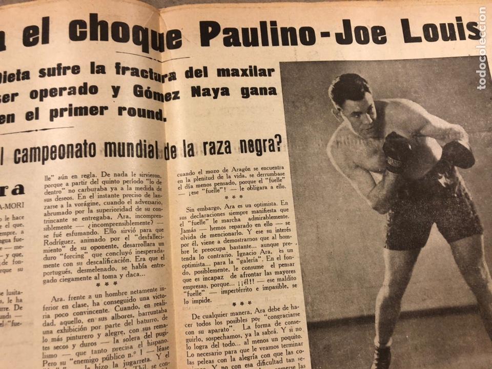 Coleccionismo deportivo: REVISTA BOXEO N° 551 (1935). PAULINO UZCUDUN Vs JOE LOUIS, JULIÁN ECHEVERRIA, SANGCHILI, SAGARRA SAR - Foto 4 - 260077495