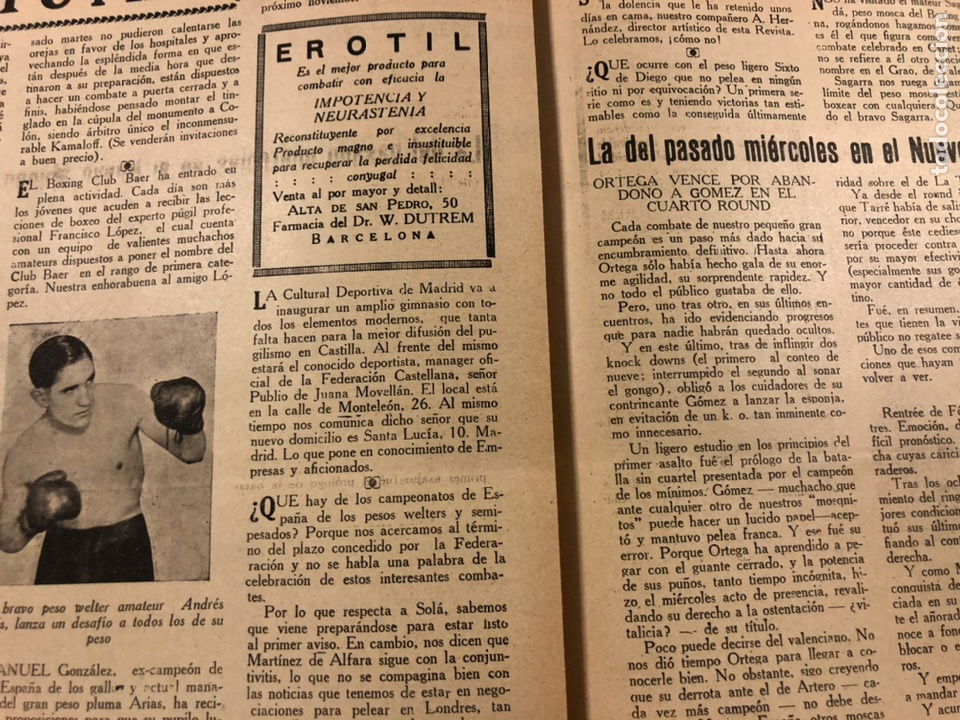Coleccionismo deportivo: REVISTA BOXEO N° 551 (1935). PAULINO UZCUDUN Vs JOE LOUIS, JULIÁN ECHEVERRIA, SANGCHILI, SAGARRA SAR - Foto 5 - 260077495