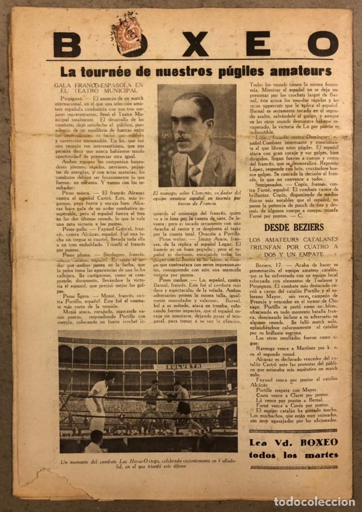 Coleccionismo deportivo: REVISTA BOXEO N° 551 (1935). PAULINO UZCUDUN Vs JOE LOUIS, JULIÁN ECHEVERRIA, SANGCHILI, SAGARRA SAR - Foto 8 - 260077495