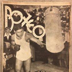 Coleccionismo deportivo: REVISTA BOXEO N° 551 (1935). PAULINO UZCUDUN VS JOE LOUIS, JULIÁN ECHEVERRIA, SANGCHILI, SAGARRA SAR. Lote 260077495