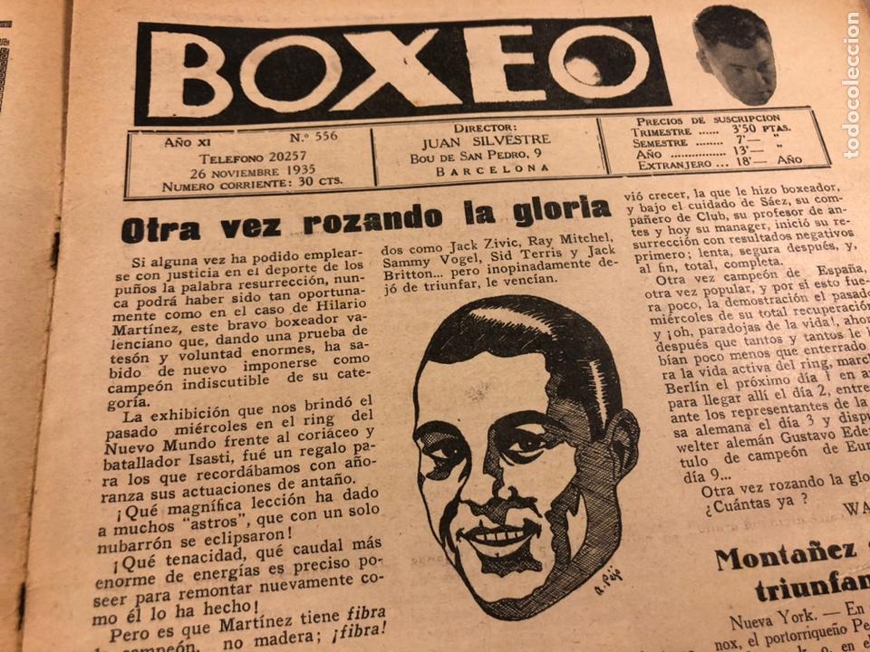 Coleccionismo deportivo: REVISTA BOXEO N° 556 (1935). HILARIO MARTÍNEZ, SATURNINO LÓ, PAULINO UZCUDUN, PUÉRTOLAS,... - Foto 2 - 260081580