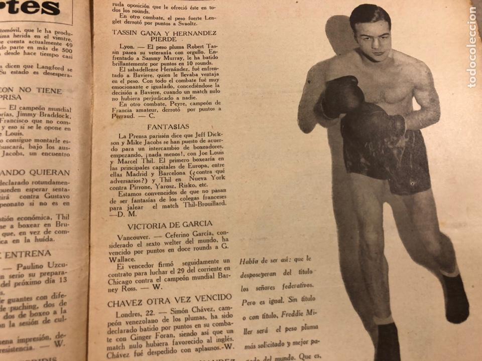 Coleccionismo deportivo: REVISTA BOXEO N° 556 (1935). HILARIO MARTÍNEZ, SATURNINO LÓ, PAULINO UZCUDUN, PUÉRTOLAS,... - Foto 3 - 260081580