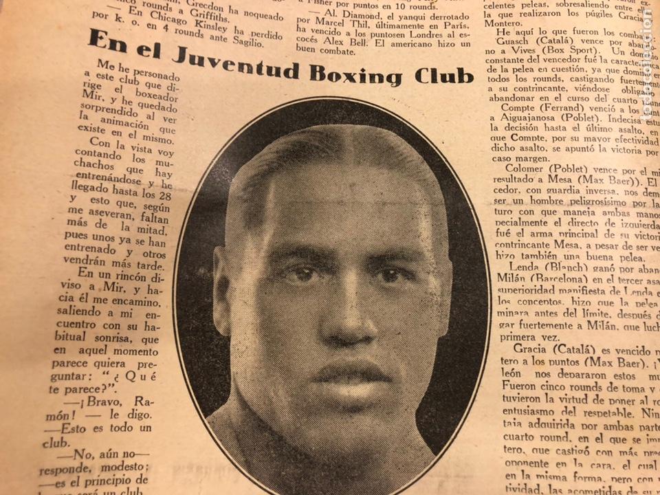 Coleccionismo deportivo: REVISTA BOXEO N° 556 (1935). HILARIO MARTÍNEZ, SATURNINO LÓ, PAULINO UZCUDUN, PUÉRTOLAS,... - Foto 4 - 260081580