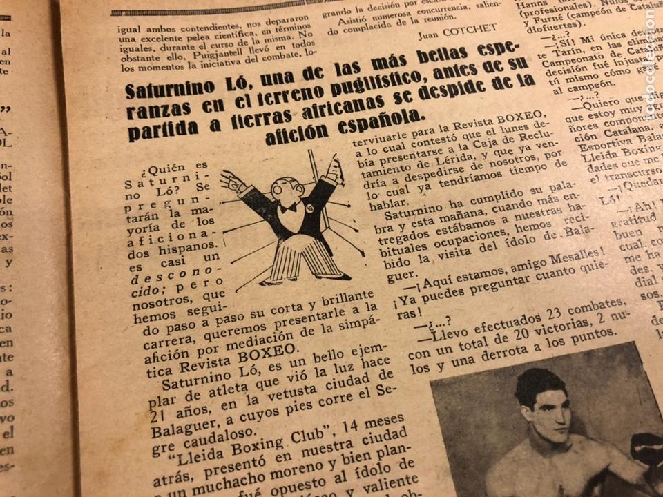 Coleccionismo deportivo: REVISTA BOXEO N° 556 (1935). HILARIO MARTÍNEZ, SATURNINO LÓ, PAULINO UZCUDUN, PUÉRTOLAS,... - Foto 5 - 260081580