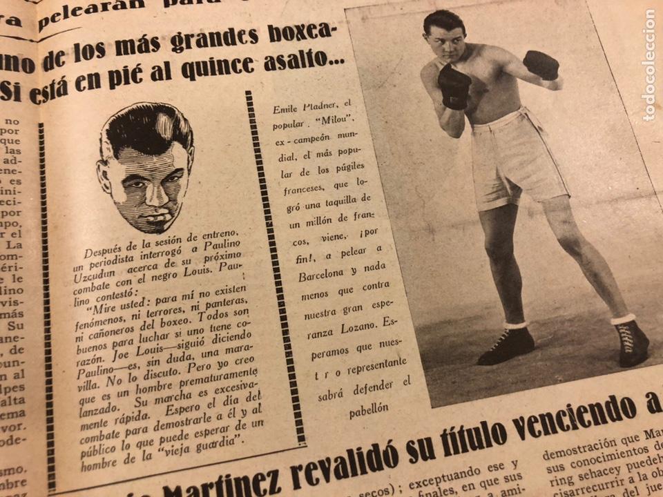 Coleccionismo deportivo: REVISTA BOXEO N° 556 (1935). HILARIO MARTÍNEZ, SATURNINO LÓ, PAULINO UZCUDUN, PUÉRTOLAS,... - Foto 7 - 260081580