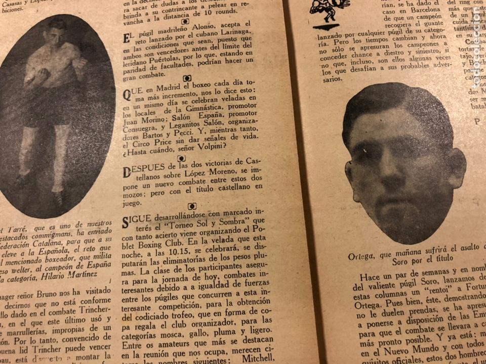 Coleccionismo deportivo: REVISTA BOXEO N° 556 (1935). HILARIO MARTÍNEZ, SATURNINO LÓ, PAULINO UZCUDUN, PUÉRTOLAS,... - Foto 8 - 260081580