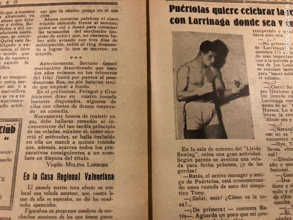 Coleccionismo deportivo: REVISTA BOXEO N° 556 (1935). HILARIO MARTÍNEZ, SATURNINO LÓ, PAULINO UZCUDUN, PUÉRTOLAS,... - Foto 9 - 260081580
