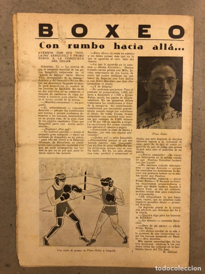 Coleccionismo deportivo: REVISTA BOXEO N° 556 (1935). HILARIO MARTÍNEZ, SATURNINO LÓ, PAULINO UZCUDUN, PUÉRTOLAS,... - Foto 11 - 260081580