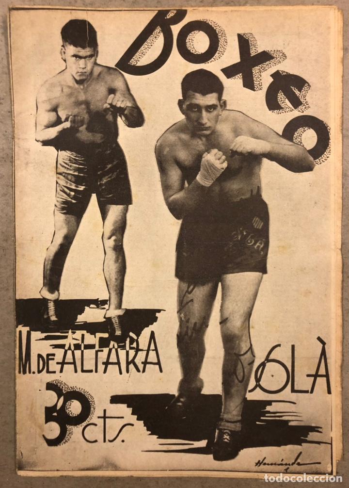 REVISTA BOXEO N° 556 (1935). HILARIO MARTÍNEZ, SATURNINO LÓ, PAULINO UZCUDUN, PUÉRTOLAS,... (Coleccionismo Deportivo - Revistas y Periódicos - otros Deportes)