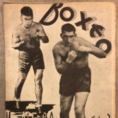 Coleccionismo deportivo: REVISTA BOXEO N° 556 (1935). HILARIO MARTÍNEZ, SATURNINO LÓ, PAULINO UZCUDUN, PUÉRTOLAS,.... Lote 260081580