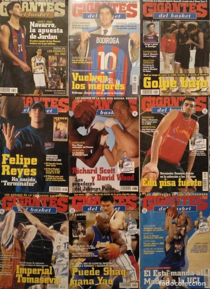 LOTE DE 18 REVISTAS ''GIGANTES DEL BASKET'' (2002-2004) - NBA (Coleccionismo Deportivo - Revistas y Periódicos - otros Deportes)