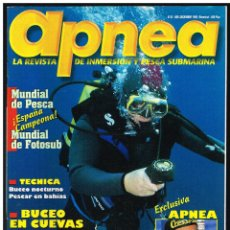 Collezionismo sportivo: REVISTA APNEA - BUCEO, PESCA SUBMARINA. Nº 45 (VER CONTENIDO EN FOTO). Lote 260353525