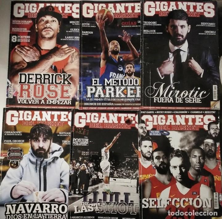 Coleccionismo deportivo: Lote de 12 revistas Gigantes del Basket (2013-2015) - NBA - Foto 2 - 232082205