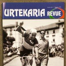 Coleccionismo deportivo: URTEKARIA REVUE N° 38 (2020). REVISTA CICLISMO. ANTONIO GÓMEZ DEL MORAL, ANQUETIL - MERCKX, SARONNI. Lote 261955780