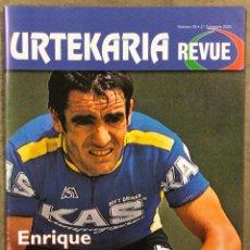 Coleccionismo deportivo: URTEKARIA REVUE N° 39 (2020). REVISTA CICLISMO. ENRIQUE MARTÍNEZ HEREDIA, TOUR 1919, LUCHO HERRERA. Lote 261955990