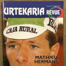 Coleccionismo deportivo: URTEKARIA REVUE N° 40 (2020). REVISTA CICLISMO. MATHIEU HERMANS, EDDY PLANCKAERT, PEDRO DELGADO,.... Lote 261956210