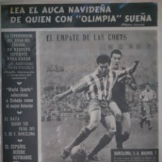 Coleccionismo deportivo: OLIMPIA SEMANARIO GRAFICO DE LOS DEPORTES NÚMERO 64 FECHA 29 DE DICIEMBRE DE 1953. Lote 262317295
