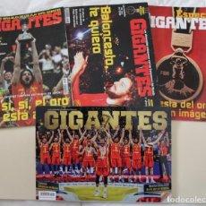 Coleccionismo deportivo: REVISTA GIGANTES DEL BASKET. Nº 1088 1089 1489 ESPAÑA CAMPEÓN DEL MUNDO BALONCESTO 2006 Y 2019.. Lote 295974673