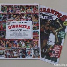 Coleccionismo deportivo: REVISTA GIGANTES DEL BASKET. (2020) ESPECIAL Nº 1500 + REEDICÓN DEL Nº 1 (1985).. Lote 225547481