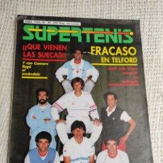 Colecionismo desportivo: SUPER TENIS Nº 30 ABRIL 1986 CONNORS, JOSE LUIS CLERC- SUPERTENIS. Lote 262589335