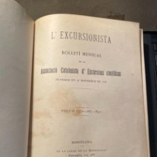 Coleccionismo deportivo: MONTAÑISMO - REVISTA L'EXCURSIONISTA VOL III 1887-1891 -DEL N. 99 ANY X AL N. 147 ANY XIV -. Lote 262592500