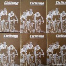 Coleccionismo deportivo: REVISTA CICLISMO FONDO COLECCION PRIMEROS 66 NUMEROS + EXTRAS 3-4 - 6 TOMOS ENCUADERNADOS 1985 1990. Lote 262707815