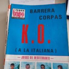 Coleccionismo deportivo: LOTE DE 14 REVISTAS FEBOX BOXEO 1972 REVISTA MENSUAL FEDERACIÓN ESPAÑOLA BOXEO. Lote 262904900