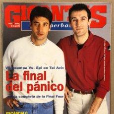 Coleccionismo deportivo: GIGANTES DEL BASKET N° 442 (1994). VILLACAMPA VS EPI (FINAL FOUR TEL AVIV), MURESAN, TOMÁS JOFRESA,.. Lote 262919375