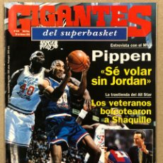 Coleccionismo deportivo: GIGANTES DEL BASKET N° 434 (1994). SCOTTIE PIPPEN, SHAQUILLE ONEAL, MADRID VS BARÇA,.... Lote 262919785