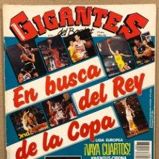 Coleccionismo deportivo: GIGANTES DEL BASKET N° 331 (1992). POSTER PEP CARGOL, ESPECIAL COPA DEL REY, JORDAN VS DUMARS,... Lote 262922045