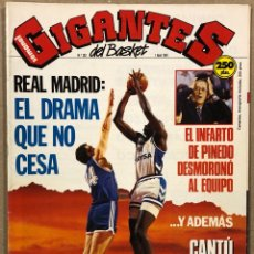 Coleccionismo deportivo: GIGANTES DEL BASKET N° 382 (1991). POSTER TERRY PORTER (PORTLAND), CRISIS REAL MADRID, JOVENTUT VS E. Lote 262928440