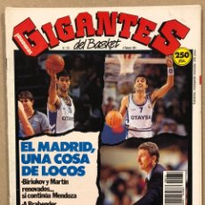 Coleccionismo deportivo: GIGANTES DEL BASKET N° 276 (1991). POSTER KEVIN WILLIS (ATLANTA HAWKS), PETROVIC, CRISIS REAL MADRID. Lote 262930305