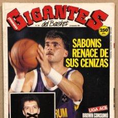 Coleccionismo deportivo: GIGANTES DEL BASKET N° 264 (1990). ARVYDAS SABONIS, DRAZEN PETROVIC, POSTER BRAD BRANSON,.... Lote 262932925