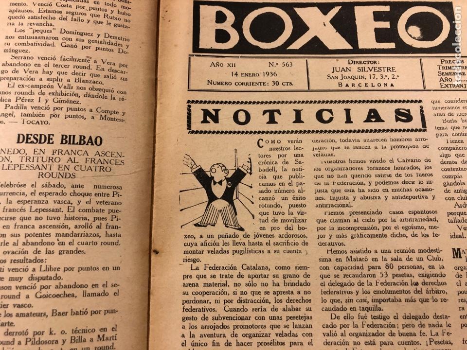 Coleccionismo deportivo: REVISTA BOXEO N° 563 (1936). BRADDOCK CAMPEÓN MUNDIAL, FILLO ECHEVERRÍA, GIRONÉS, PAULINO UZCUDUN,.. - Foto 2 - 263044940