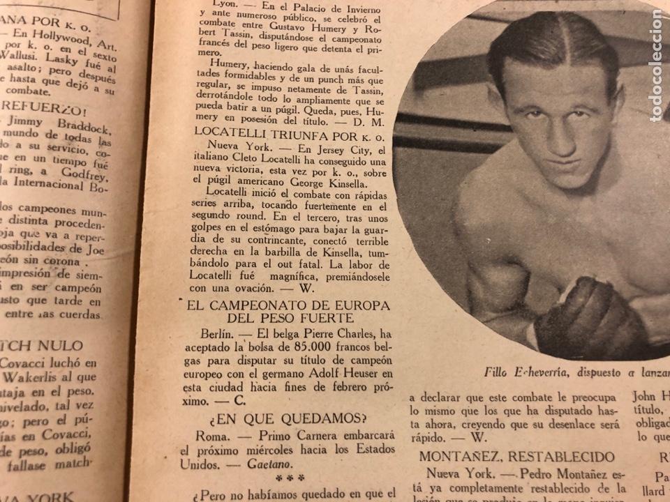 Coleccionismo deportivo: REVISTA BOXEO N° 563 (1936). BRADDOCK CAMPEÓN MUNDIAL, FILLO ECHEVERRÍA, GIRONÉS, PAULINO UZCUDUN,.. - Foto 3 - 263044940