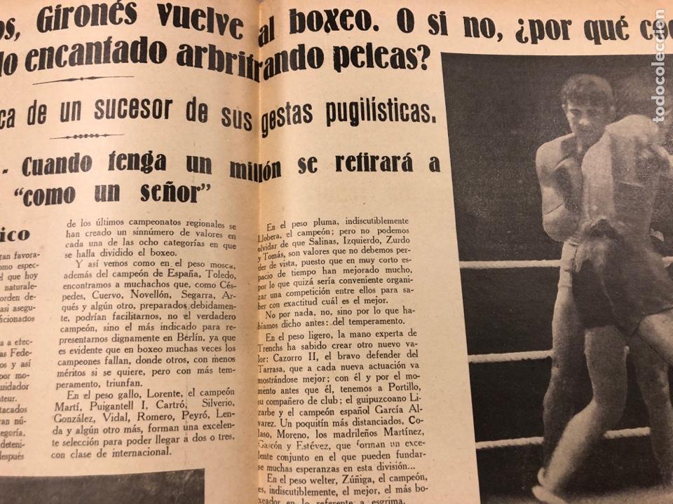 Coleccionismo deportivo: REVISTA BOXEO N° 563 (1936). BRADDOCK CAMPEÓN MUNDIAL, FILLO ECHEVERRÍA, GIRONÉS, PAULINO UZCUDUN,.. - Foto 4 - 263044940