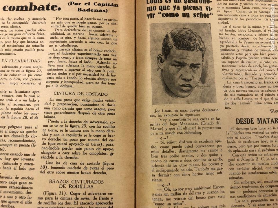 Coleccionismo deportivo: REVISTA BOXEO N° 563 (1936). BRADDOCK CAMPEÓN MUNDIAL, FILLO ECHEVERRÍA, GIRONÉS, PAULINO UZCUDUN,.. - Foto 5 - 263044940