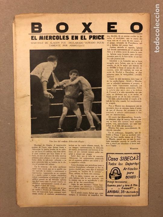 Coleccionismo deportivo: REVISTA BOXEO N° 563 (1936). BRADDOCK CAMPEÓN MUNDIAL, FILLO ECHEVERRÍA, GIRONÉS, PAULINO UZCUDUN,.. - Foto 6 - 263044940