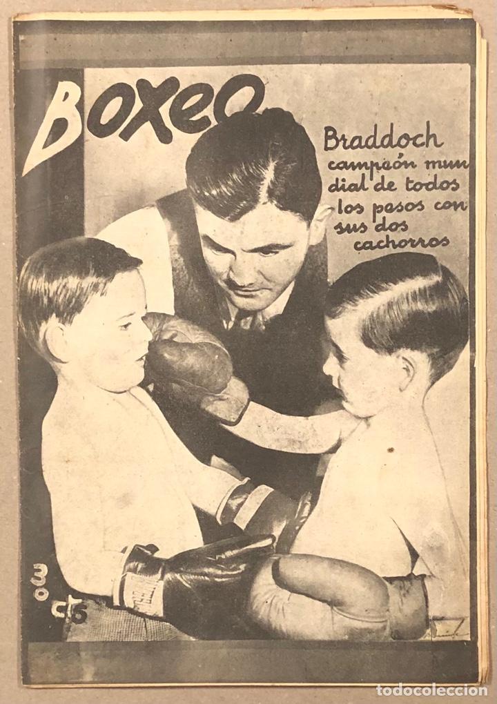 REVISTA BOXEO N° 563 (1936). BRADDOCK CAMPEÓN MUNDIAL, FILLO ECHEVERRÍA, GIRONÉS, PAULINO UZCUDUN,.. (Coleccionismo Deportivo - Revistas y Periódicos - otros Deportes)