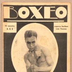 Coleccionismo deportivo: REVISTA BOXEO N° 539 (1935). MORITO ALÍ, PEDRO MONTAÑEZ, GIRONÉS, ARTERO, FLIC, ORTEGA, TARRÉ,.... Lote 263050155