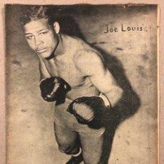 Coleccionismo deportivo: REVISTA BOXEO N° 535 (1935). JOE LOUIS, HILARIO MARTÍNEZ, SEQUALS, FRUTOS MARTÍNEZ, CARNERA. Lote 263062845