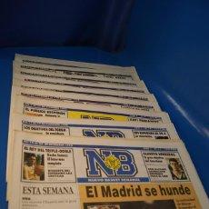 Coleccionismo deportivo: NUEVO BASKET SEMANAL. PRENSA ESPECIALIZADA EN BALONCESTO. DEL 1990 AL 1991-TODOS MENOS EL 1 Y EL 5. Lote 263182370