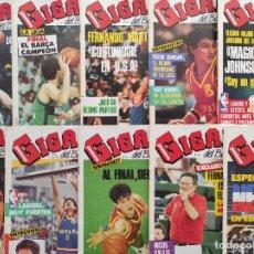 Coleccionismo deportivo: LOTE 10 REVISTAS GIGANTES DEL BASKET Nº 77-78-80-81-82-83-84-85-86-87 1987 NBA ACB POSTER. Lote 263646410