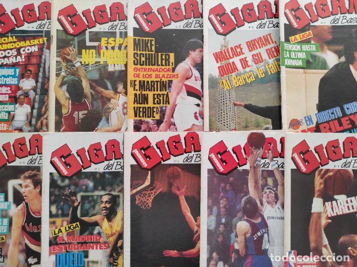 LOTE 10 REVISTAS GIGANTES DEL BASKET Nº 35-38-57-70-71-72-73-74-75-76 1986 1987 NBA ACB POSTER (Coleccionismo Deportivo - Revistas y Periódicos - otros Deportes)